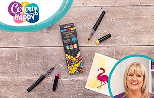 Colour Me Happy - 11th June - Spectrum Noir Sparkle Brush Pens