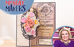 Monday Makers - 15th Feb - Floral Decoupage, Double Sided Dies, Rotation Stamps