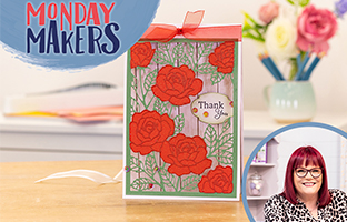 Monday Makers - 15th March - Floral Birthday Stamps & Big Scene Create-a-Card with Joe & Debby