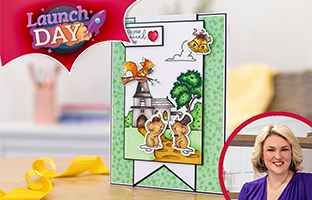 Launch Day - 20th May - NEW Lee Holland Cute Scene Stamp & Dies