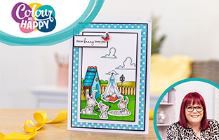Colour Me Happy - 21st May - Lee Holland Cute Character Stamp & Dies