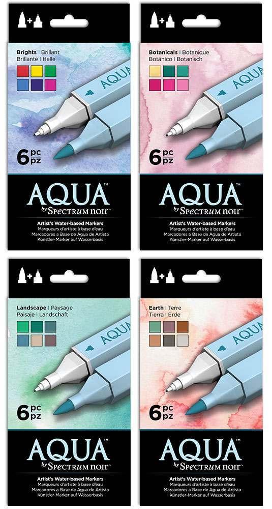 Aqua Markers - Set of 6 Markers