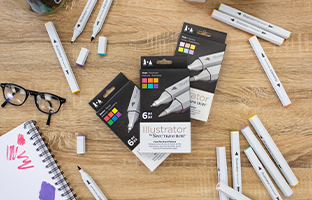 Illustrator Dual-Tip Markers