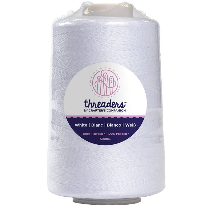 Threaders Overlocking Thread - White