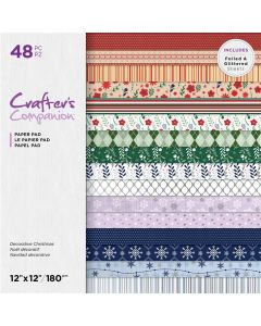 Crafter's Companion 12 x 12 Printed Paper Pad - Decorative Christmas
