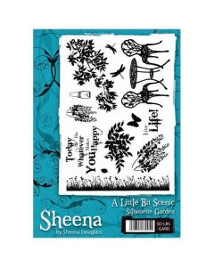 Sheena Douglass A Little Bit Scenic A5 Rubber Stamp Set - Silhouette Garden
