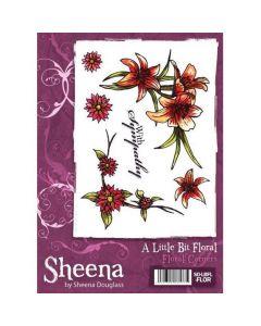 Sheena Douglass A Little Bit Floral A6 Rubber Stamp Set - Floral Corners