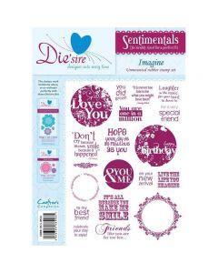 Sentimentals Rubber Stamps - Imagine