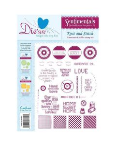 Sentimentals Rubber Stamps - Knit and Stitch