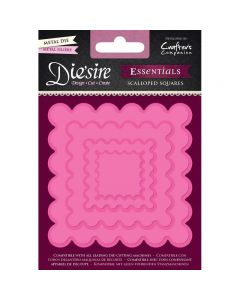 Die'sire Essentials Metal Die - Scalloped Squares