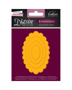 Die'sire Essentials Metal Die - Scalloped Ovals