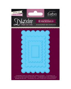 Die'sire Essentials Metal Die - Scalloped Rectangles