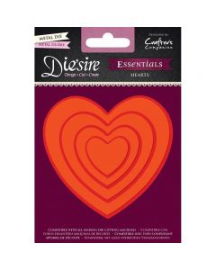 Die'sire Essentials Metal Die - Hearts