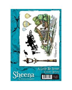 Sheena Douglass A Little Bit Scenic A5 Rubber Stamp Set - Country Retreat
