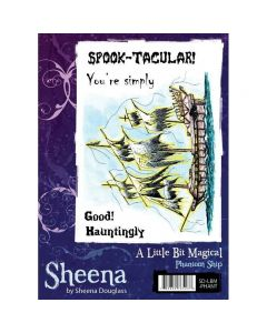 Sheena Douglass A Little Bit Magical A6 Rubber Stamp Set - Phantom Ship