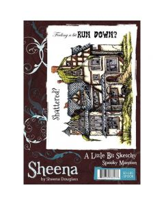 Sheena Douglass A Little Bit Sketchy A6 Rubber Stamp Set - Spooky Mansion