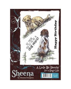 Sheena Douglass A Little Bit Sketchy A6 Rubber Stamp Set - It's a Dog's Life