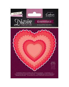 Die'sire Essentials Metal Die - Scalloped Hearts