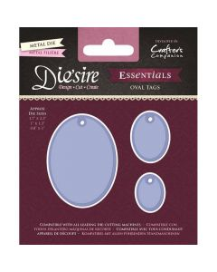 Die'sire Essentials Metal Die - Oval Tags 1
