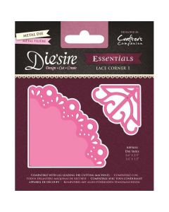 Die'sire Essentials Metal Die - Lace Corner 1