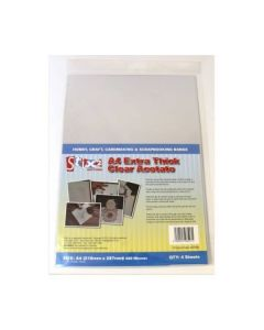 Stix2 Clear Extra Thick Acetate Sheets A4