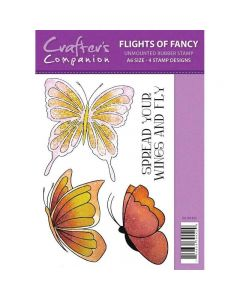 Sparkle by Spectrum Noir A6 Rubber Stamp - Flights of Fancy Stamp