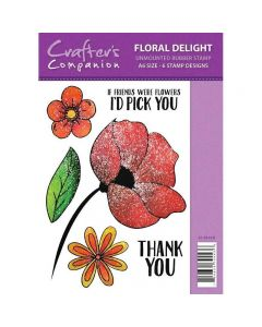 Sparkle by Spectrum Noir A6 Rubber Stamp - Floral Delight Stamp