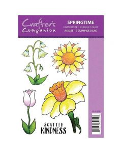 Sparkle by Spectrum Noir A6 Rubber Stamp - Springtime Stamp