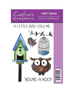 Sparkle by Spectrum Noir A6 Rubber Stamp - Twit Twoo Stamp