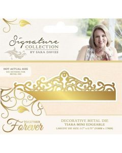 Sara Signature Together Forever Collection Metal Die - Tiara Mini Edgeable