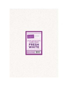Crafter's Companion Centura Pearl Fresh White Luxury Double Sided A3 Card Pack - 20 sheets
