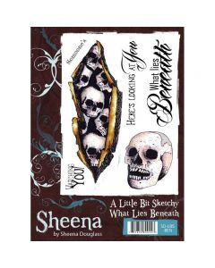 Sheena Douglass A Little Bit Sketchy A6 Rubber Stamp Set - What Lies Beneath