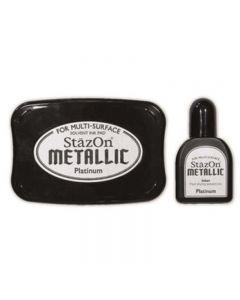 StazOn Metallic Solvent Ink Pad - Platinum