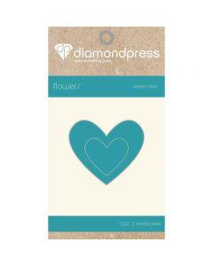 Diamond Press Nested Dies - Heart