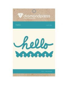 Diamond Press Word Dies - Hello and Butterflies