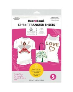 Heat'n Bond EZ Print Transfer Sheets (For Light Fabrics)
