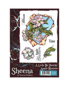 Sheena Douglass A Little Bit Sketchy A6 Rubber Stamp Set - Apple Blossom