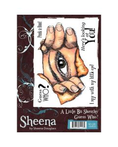 Sheena Douglass A Little Bit Sketchy A6 Rubber Stamp Set - Guess Who