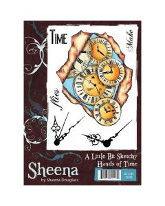 Sheena Douglass A Little Bit Sketchy A6 Rubber Stamp Set - Hands of Time