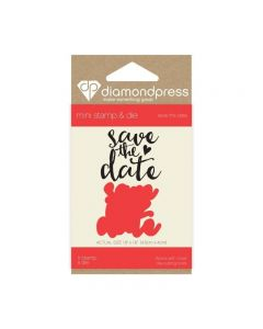 Diamond Press Mini Stamp and Die - Save the Date
