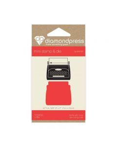 Diamond Press Mini Stamp and Die - Typewriter