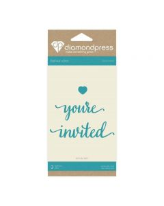 Diamond Press Word Dies - You're Invited