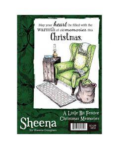 Sheena Douglass A Little Bit Festive A6 Christmas Rubber Stamp Set - Christmas Memories