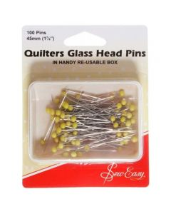 Sew Easy 50mm Quilters Glass Head Pins