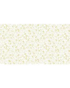 Makower Monsoon - Dotty Scroll Green