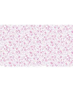 Makower Monsoon - Dotty Scroll Pink