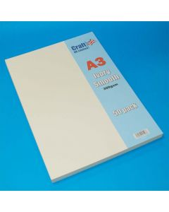 Craft UK 50 A3 Smooth Card - Ivory