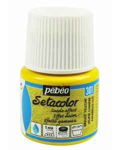Pebeo Setacolor Opaque Suede Effect Fabric Paint - Bright Yellow
