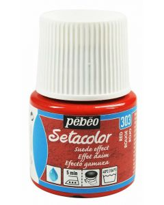 Pebeo Setacolor Opaque Suede Effect Fabric Paint - Red