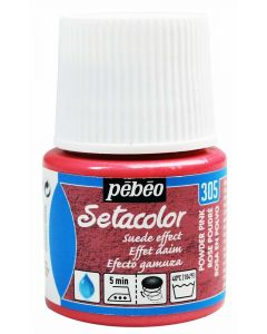 Pebeo Setacolor Opaque Suede Effect Fabric Paint - Powder Pink